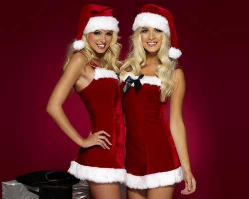девушки одетые в снегурок фото