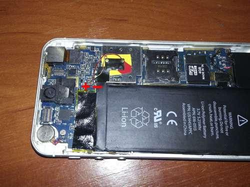 Батарея айфон 4s схема