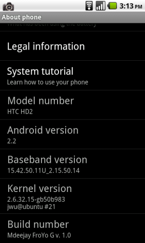 HTC HD2 - Каталог сборок Android OS SD - 4PDA