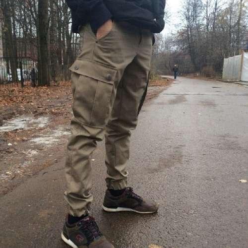 Карго штаны с резинкой внизу