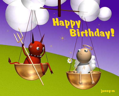 Поздравления с днем рождения прикольные для весов