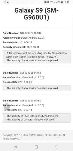 Samsung SM-G960 Galaxy S9 / SM-G965 Galaxy S9+ (0/U/S/T/V и пр
