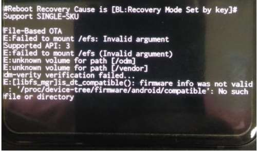 Reboot recovery cause is UNKNOWN