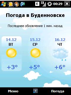 Прогноз погоды на 7 дней в Буденновске